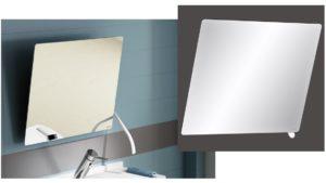 salle de bains personnes âgées miroir inclinable