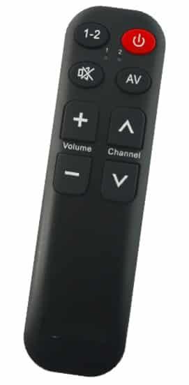 personnes âgées télécommande tv