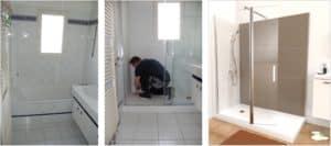 Installation douche italienne sécurisée