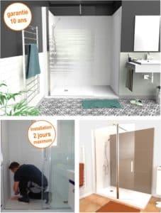 Remplacement baignoire par douche sécurisée